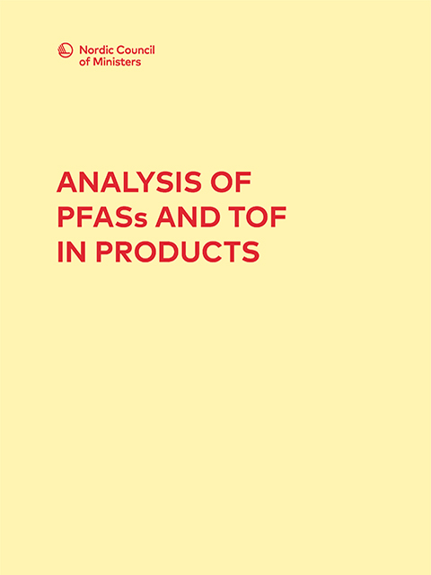 analysis of pfass and tof in products